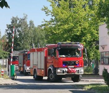 Ćwiczenia strażaków i personelu szpitala